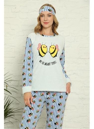 Akbeniz Pijama Takım Ekru